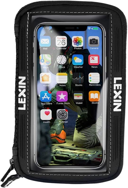 LEXIN MTB03 Big Size Negro Motocicleta/Sportbike Magnetic Tank Bag/Bolsa Teléfono Holder/Case Upto 6.5 '' Pantalla Nuevo