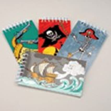 Pirate Mini Spiral Notebook Childrens Birthday Party Loot Bags Toy Stationary 12