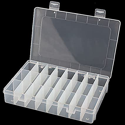 Amazoncom Waterwood Adjustable 24 Compartment Slot Plastic Storage