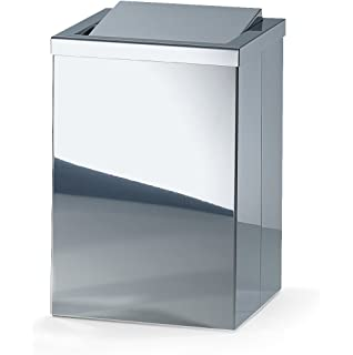 b6f0eb6a4cd Walther Square Stainless Steel Wastebaske Trash Can W  Swing Lid. Trash Can  Waste Receptacles