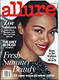 Allure Magazine July 2016- Zoe Saldana- Fashion- Beauty- Health- Women