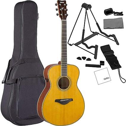 Amazon.com: Yamaha FS-TA VT - Guitarra acústica eléctrica de ...