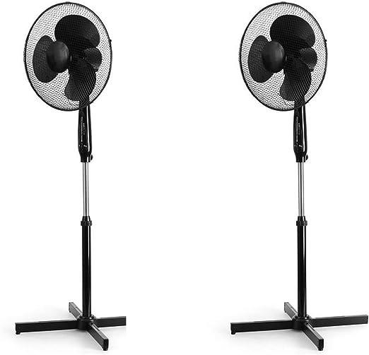 KLARSTEIN 2X Ventilador de pie (50W Potencia, silencioso, con ...