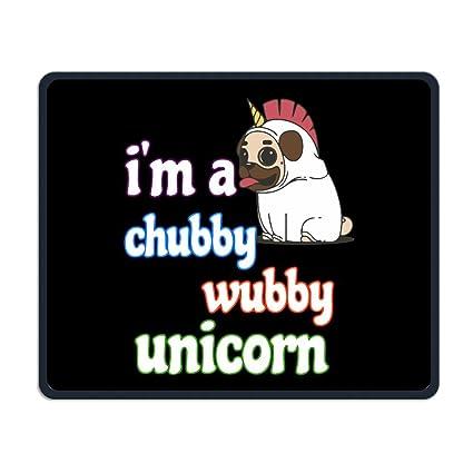 Amazoncom Im A Chubby Wubby Unicorn Pug Gaming Mouse Pad Custom