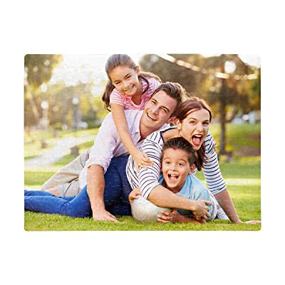 Custom Puzzle Happy Family Rectangle Jigsaw Puzzle DIY for Mother's Day Father's Day A3 Size 252 Pieces: Toys & Games