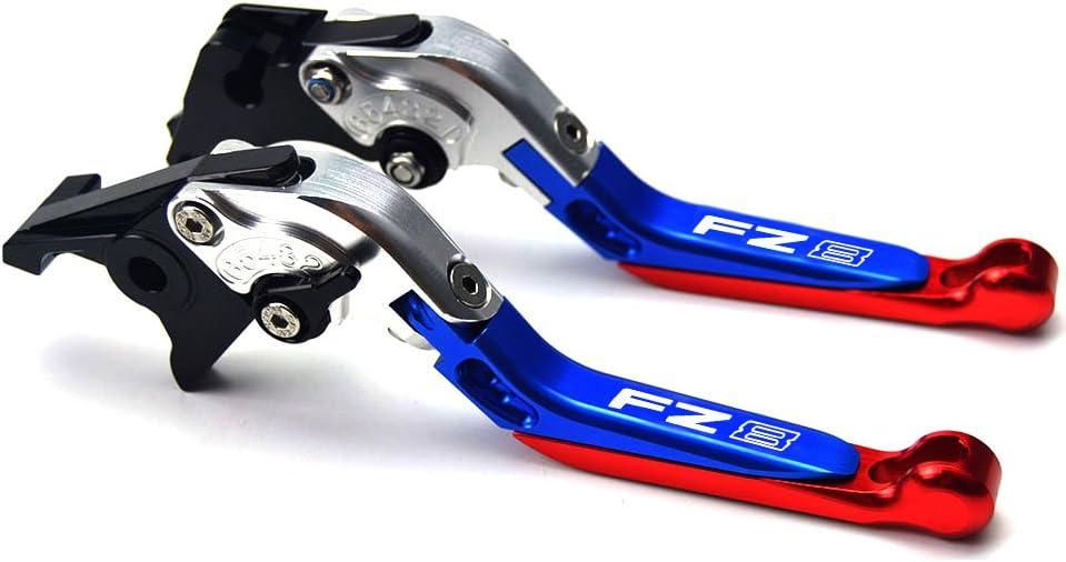 allungabili e pieghevoli Leve per freno e frizione per vari modelli di Yamaha FZ8 2011 in alluminio accessori per moto lavorate a macchina a controllo numerico 2015