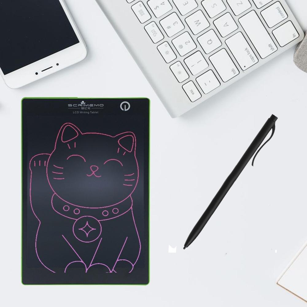Aolvo Tragbar LCD Writing Tablet, 24,6cm LCD Writing Tablet Colorful Electronic Graphic NEU Zeichenbrett Handy App grün