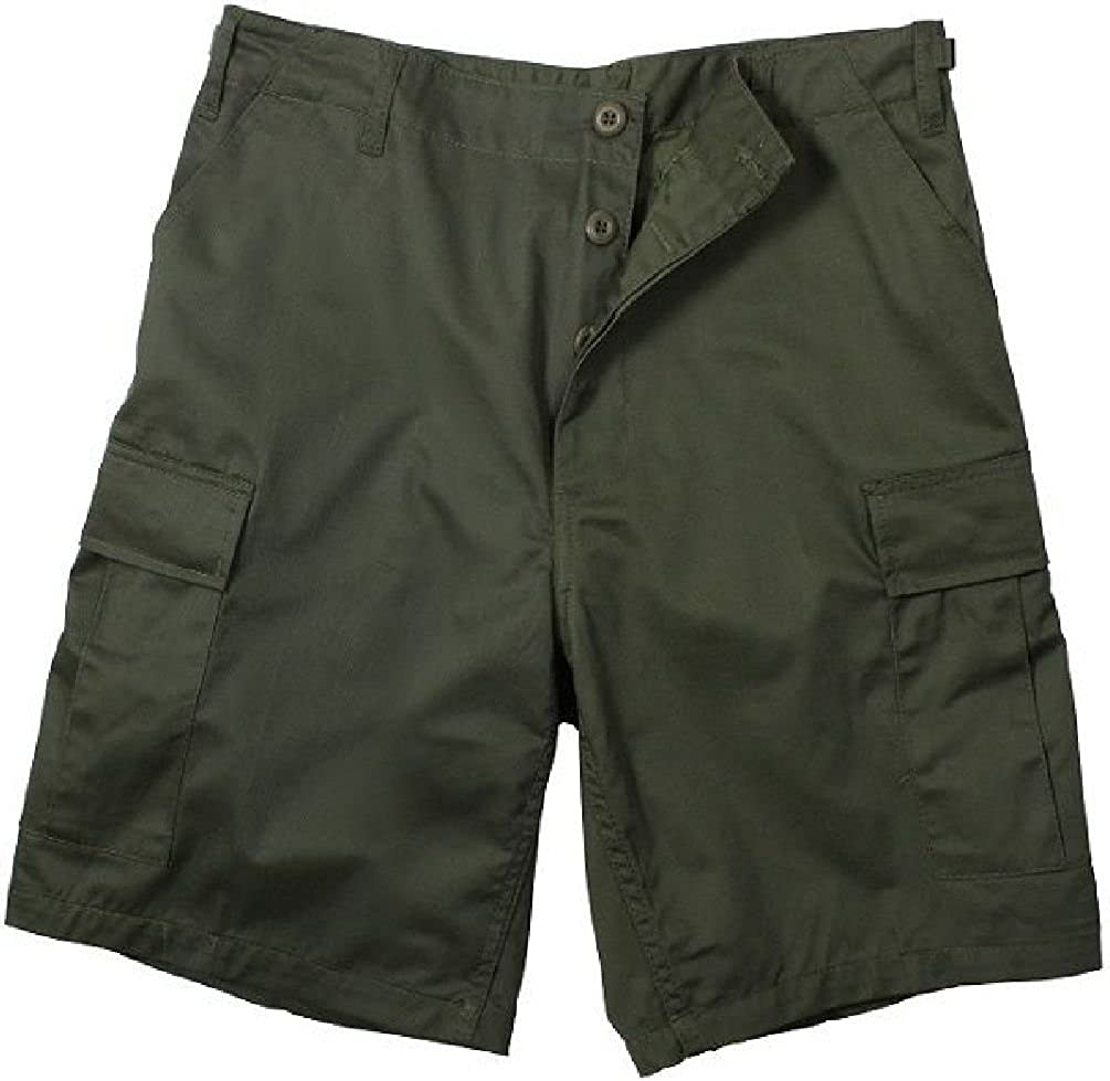 Bellawjace Clothing OD Green Military BDU Combat Cargo Shorts Poly//Cotton