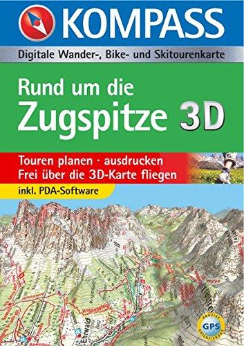 Rund um die Zugspitze 3D: Digitale Wander-, Bike- und Skitourenkarte (KOMPASS Digitale Karten, Band 4025)