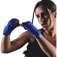 ALITREND 1Piece 4.5Metros Vendas Boxeo Cinta Elástico Mano Muñeca, Vendaje Box para Las Manos de Artes Marciales para Protecciones de Box