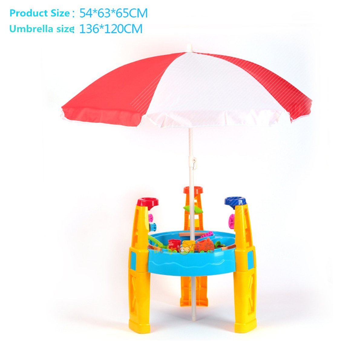 KidsT.C(TM) 1Set Outdoor Beach Toys Childrens Sand And Water Play Table With Accessories