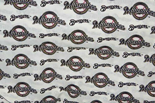 - Milwaukee Brewers Fabric Cotton MLB Baseball Craft Quilt Out of Print Rare BTY