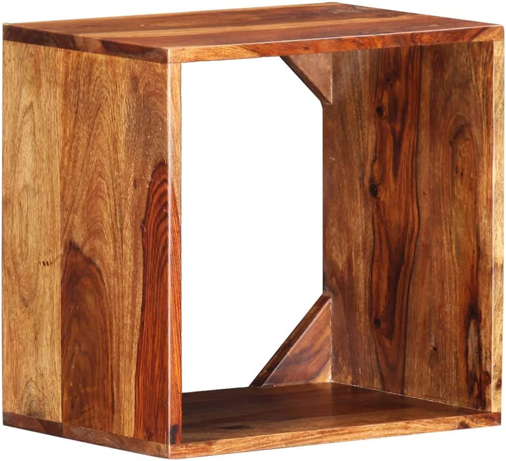XHCP Side Table, End Table, Nightstand, Stool, for Living Room or Bedroom 40x30x40 cm Solid Sheesham Wood
