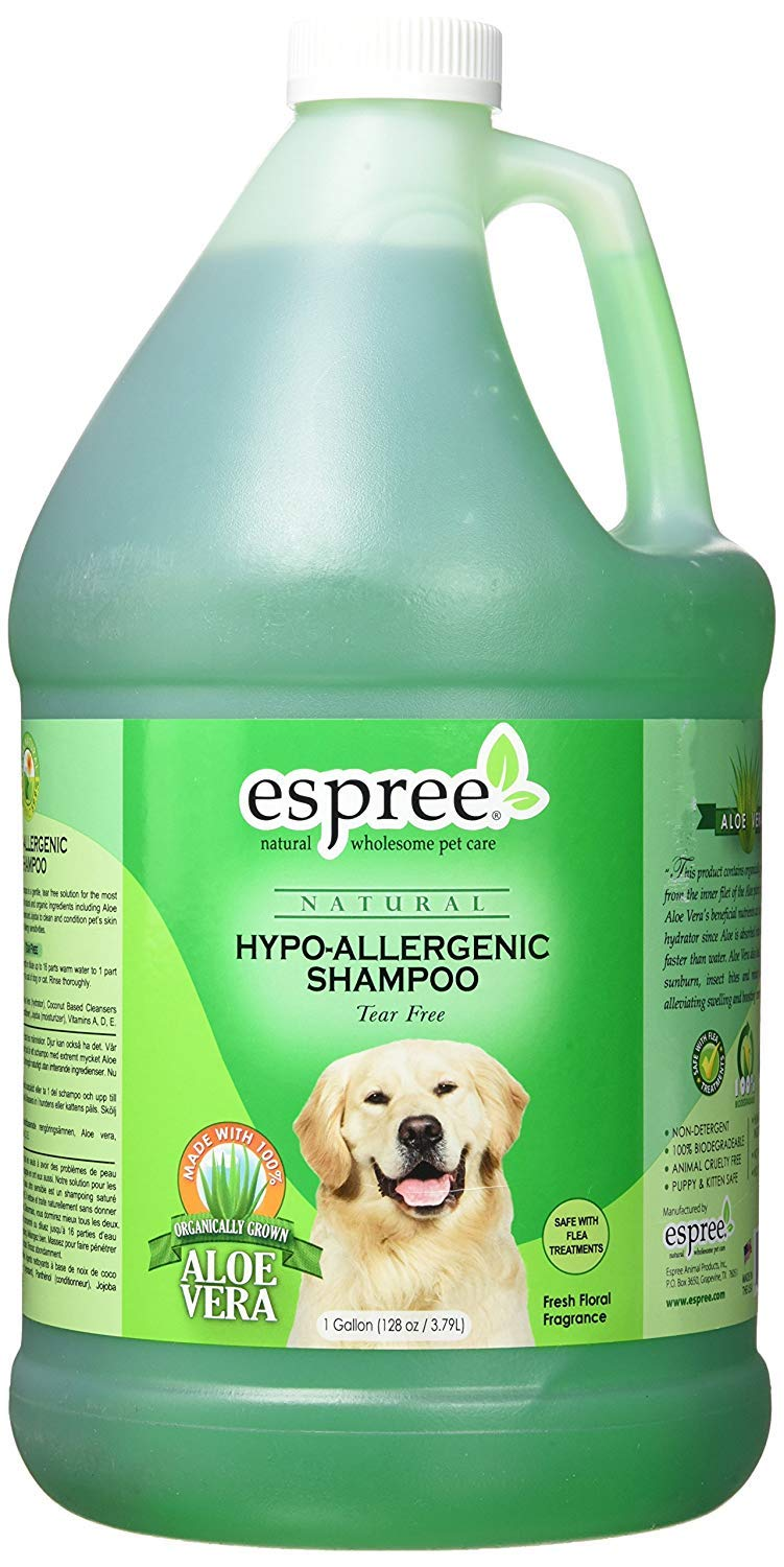 Espree Hypo Allergenic Shampoo for Dogs & Cats | Formulated with Organically Grown Aloe Vera | 1 Gallon by Espree