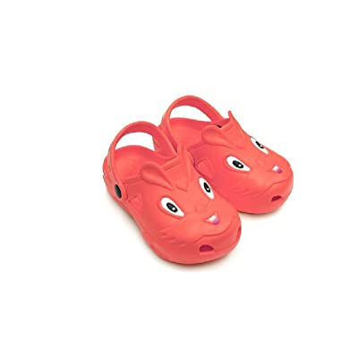 Children's All-Weather Novelty Animal Clogs Toddler Thru Little Kid Sizes (9.5, Red)