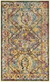 Safavieh Crystal Collection CRS516A Light Blue and Orange Distressed Bohemian Area Rug (3′ x 5′) Review
