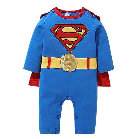 Bebé bebé Superman siamés Ropa de Manga Larga bebé ...