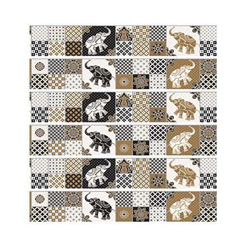 Wall Stickers - 2 Styles Pvc Wall Sticker Bathroom Stairs Waterproof Self Adhesive Wallpaper Mosaic Tile Stickers - Anime Tile London Office Outer Games Electronic Zag Under (Halloween City Game Tips)