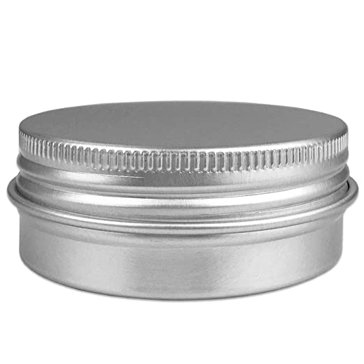 Amazon.com: Beauticom Aluminum Silver Tin Metal Storage Containers With  Screwtop Lids For DIY Beauty, Cosmetics, Accessories, Travel And More!