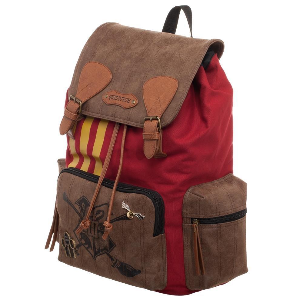 Harry Potter Quidditch Bag - Harry Potter Rucksack w/Convenient Side Pockets