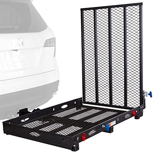 Apex Rage Powersports SC400 Mobility and Equipment Cargo Carrier with (Trailer Hitch Scooter Carrier)