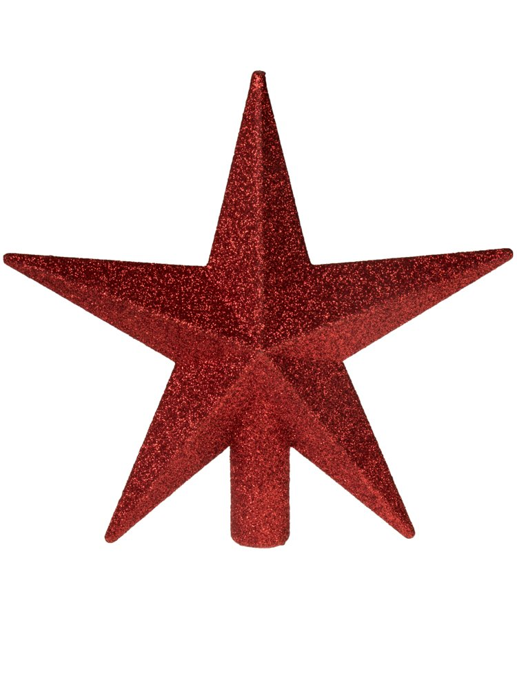 Gold Star Christmas Tree Topper by Clever Creations | Festive Christmas Decor | Sparkling Gold Shatter Resistant Plastic | 8