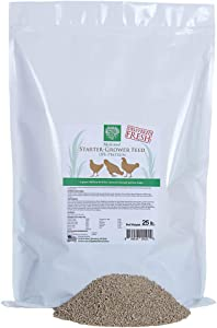 Small Pet Select- Starter/Grower Medicated Chicken Feed, 18% Protein with Corn Brown 25lb