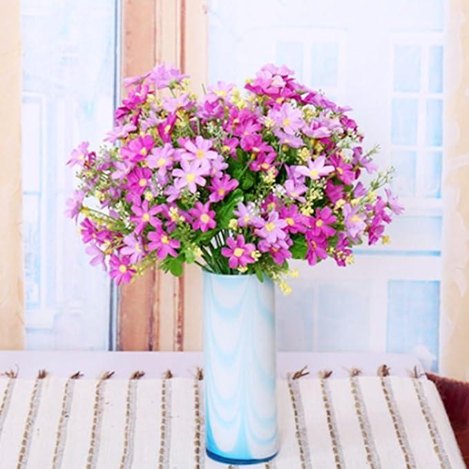 Flores artificiales falsas, 4 piezas, orquídeas, arreglos para el hogar, bodas, fiestas al aire libre, decoración de fiesta, plantas resistentes a los rayos UV ...