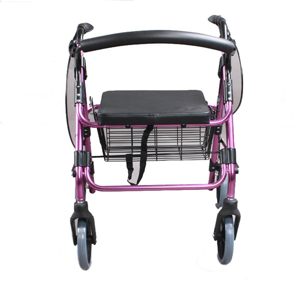 XUEPING 高齢者ウォーキングウォーキング援助折りたたみ四脚松葉杖車椅子ウォーカーブルー伸縮自在折り畳み可能な異なる高さに会う B078NSYH62