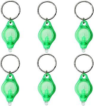 Brilliant Mini LED Flashlight Keychain Green Color