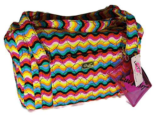 Betsey Johnson Weekender Overnighter Duffle Bag - Quilted Hearts Rainbow Overnighter Bag Handbags