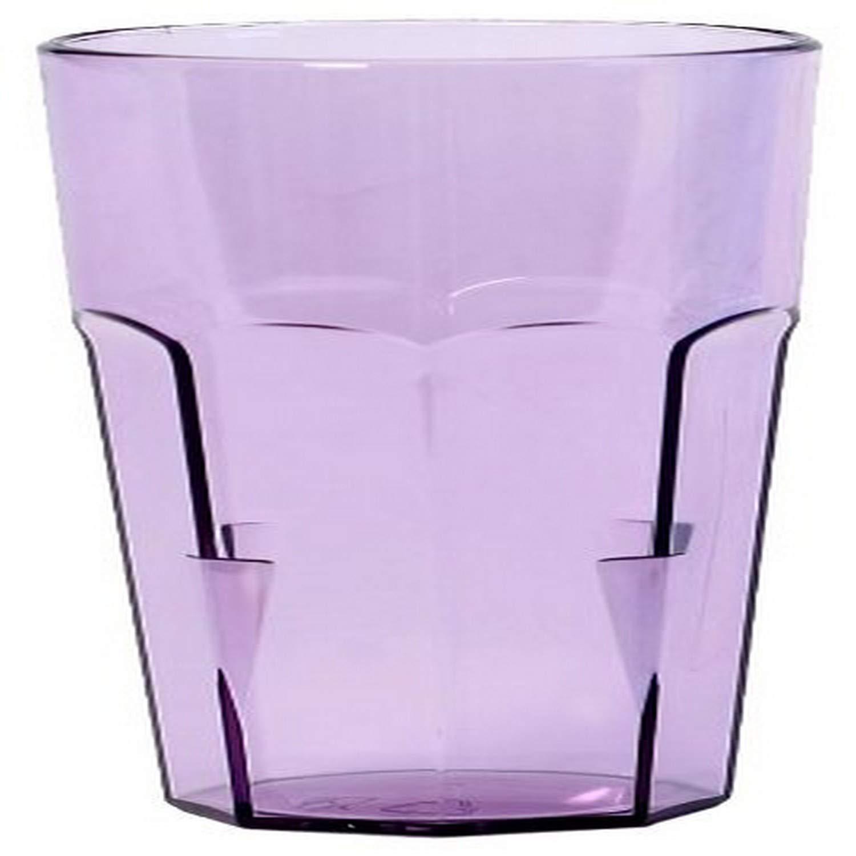 Linden Sweden 17-Ounce Tumbler, Large, Transparent Purple, Set of 4