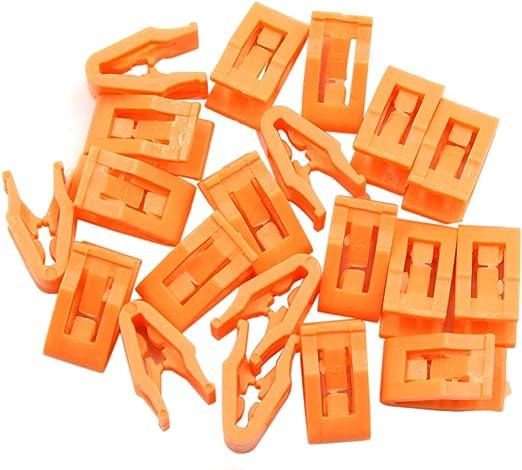 Sourcing Map 20stk Orange Autokonsole Halterung Armaturenbrett Formen Clip Befestigung Auto