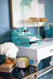 Blu Monaco Office Desk Organizers and Accessories 6 Piece Interlocking Aqua Desk Organizer Set - Office Organizer
