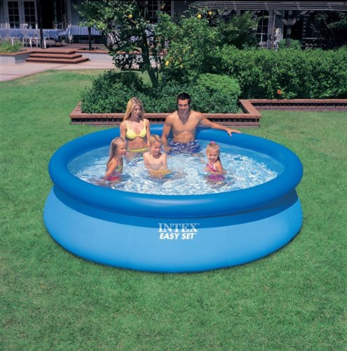 "Intex 10' x 30"" Easy Set Above Ground Inflatable Swimming Pool 