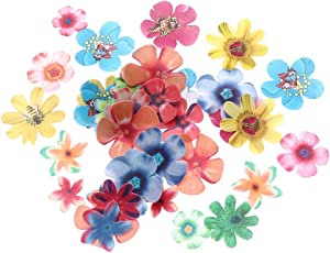 BESTonZON 360Pcs Edible Cake Topper Paper Flower Cupcake Decor Edible Flower Cake Toppers