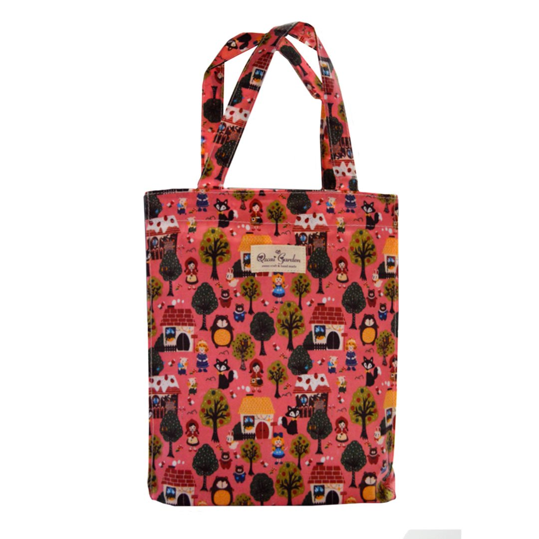 Felice Women Girls Shopper Tote Shoulder Handbag Floral Pattern Cotton Tote Beach Bag #02