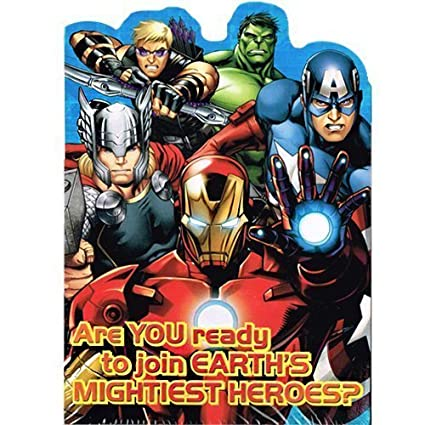 Avengers Assemble Invitations Thank You Cards W Envelopes 8ct