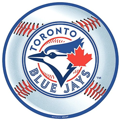 Sports and Tailgating MLB Party Toronto Blue Jays Cutout Decoration, Laminated Cardstock, 12