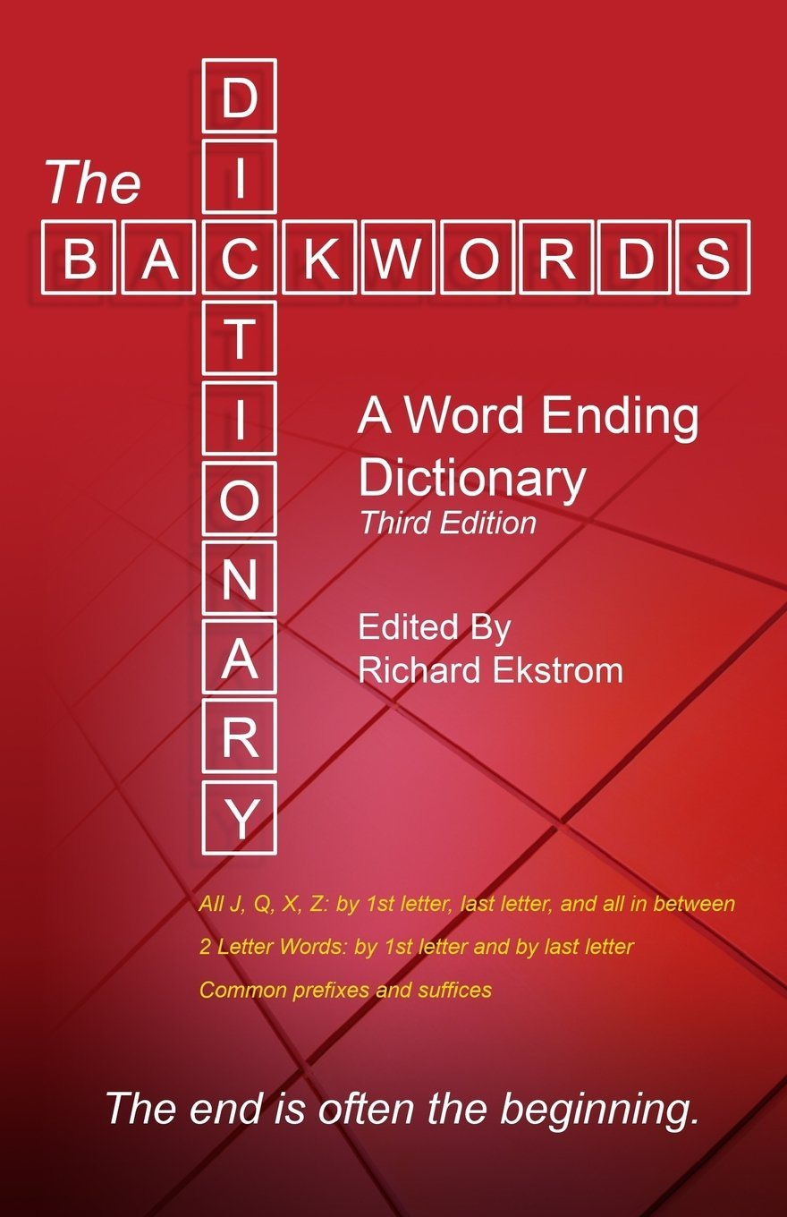 Amazon The Backwords Dictionary A Word Ending Dictionary