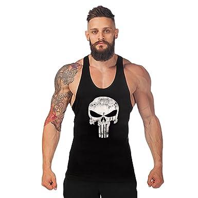 Robo Homme Débardeur de Sport T-Shirt Gilet sans Manche Maillot Tank Top  Stretch Fitness 3968ced6a823