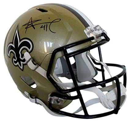5eddc537 Alvin Kamara New Orleans Saints Signed Autograph Full Size Speed Helmet JSA  Certified