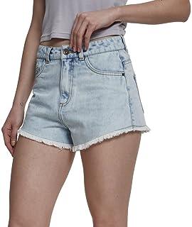 92bf76fd0a2f WanYang Mujer Vintage Verano Pantalones Cortos Denim Moda Cintura ...