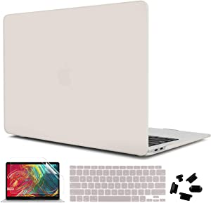CiSoo Beige Case for MacBook Air 13 Inch Case 2020 Release Model A2179 A2337 M1 with Retina Display, Plastic Hard Shell Case with Keyboard Cover Screen Protector for 2020 Air 13
