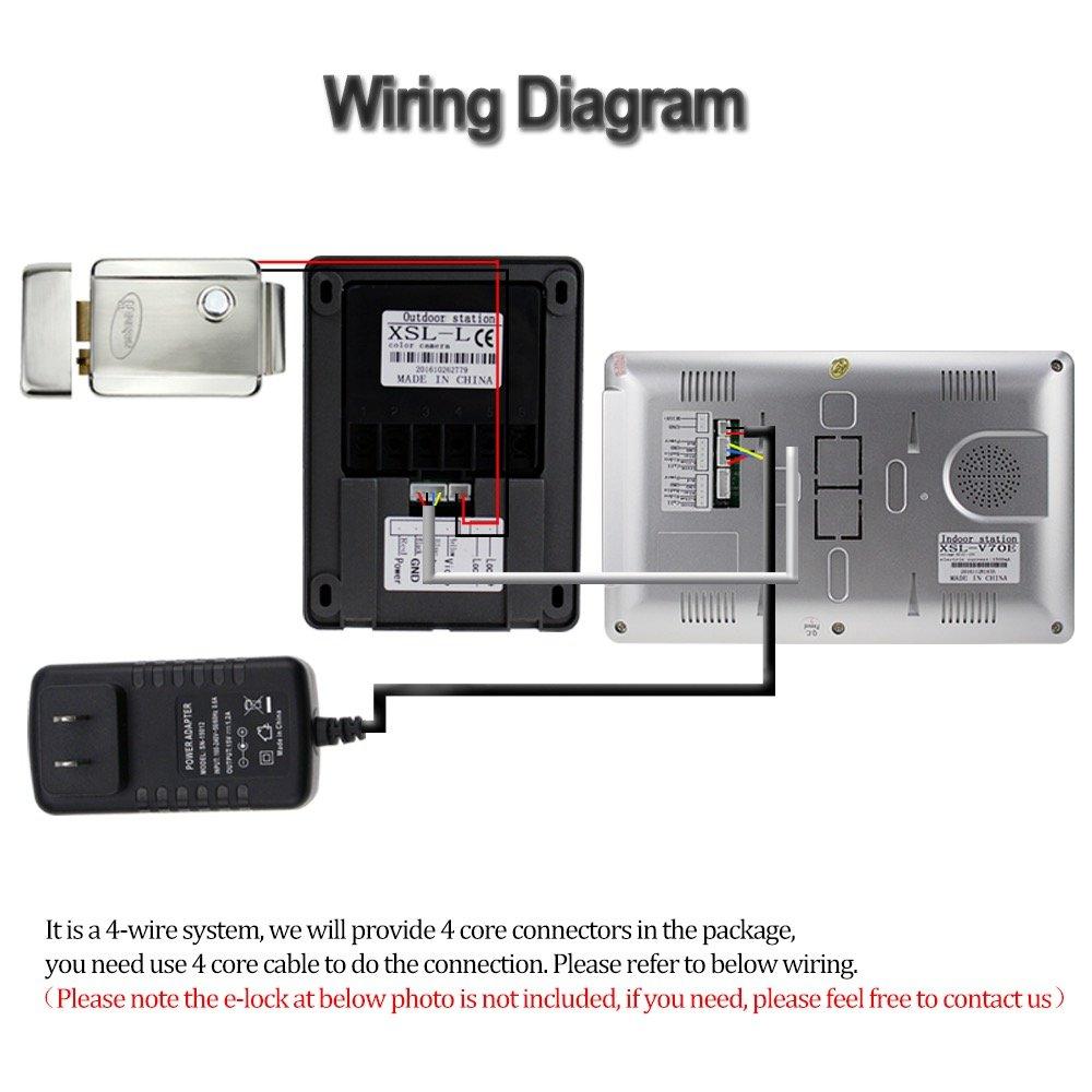 libo smart home 7'' waterproof video intercom wired video door phone  intercom digital hd