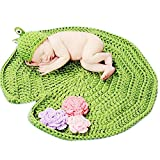 Sunbaby Newborn Photography Props Baby Knitting Wool Material Photography Costume Cute Animal Style Baby Crochet Clothes (Green Frog)