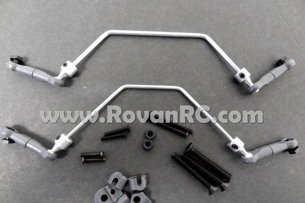 US Silver Rovan Aluminium Rear Bumper Kit for HPI Baja KM Buggy 5B 5T 5SC Truck