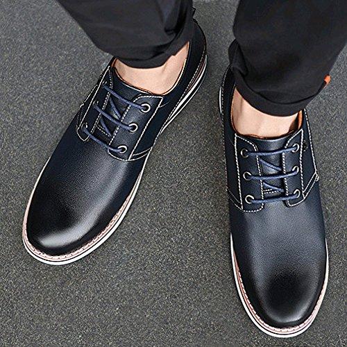 da Scarpe Playboy Moda di Scarpe Casual Black Alta Coreana Maschile Versione Scarpe Uomo Scarpe Pelle Affari alla 5FIqxprI