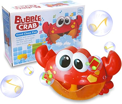 Crab bubble maker toys baby kids bath tub fun music water shower bathroom toy