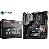MSI MAG Z390 TOMAHAWK - Placa base Arsenal (LGA 1151, 3 x PCI-E x16, M.2 Shield FROZR, Dual Intel LAN, Core Boost, 4 x USB 3.1 Gen2, DDR4 Boost, Multi-GPU)